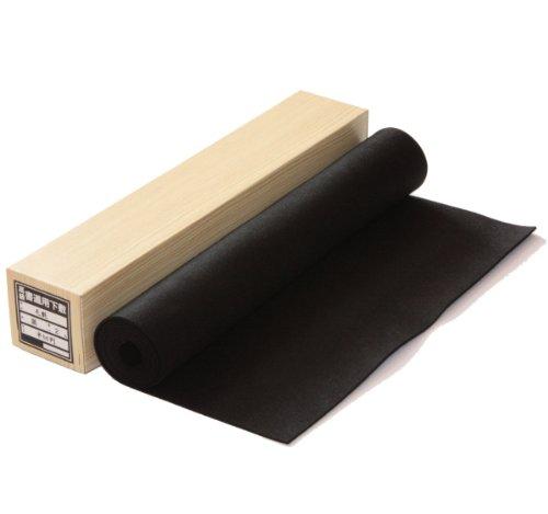 書道下敷き 半切用(45×150cm) 毛氈 黒2mm