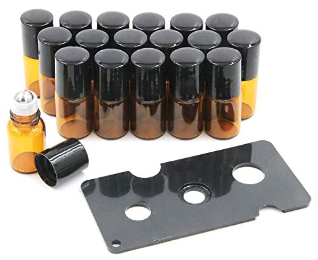 XPdesign アロマ ロールオン遮光瓶 アロマオイル 遮光瓶 保存 容器 小分け 詰め替え 香水 ボトル (2ml18本セット)