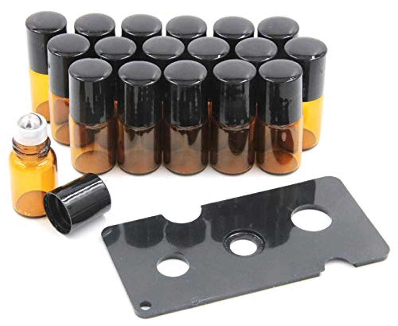 保証万一に備えてマージXPdesign アロマ ロールオン遮光瓶 アロマオイル 遮光瓶 保存 容器 小分け 詰め替え 香水 ボトル (2ml18本セット)