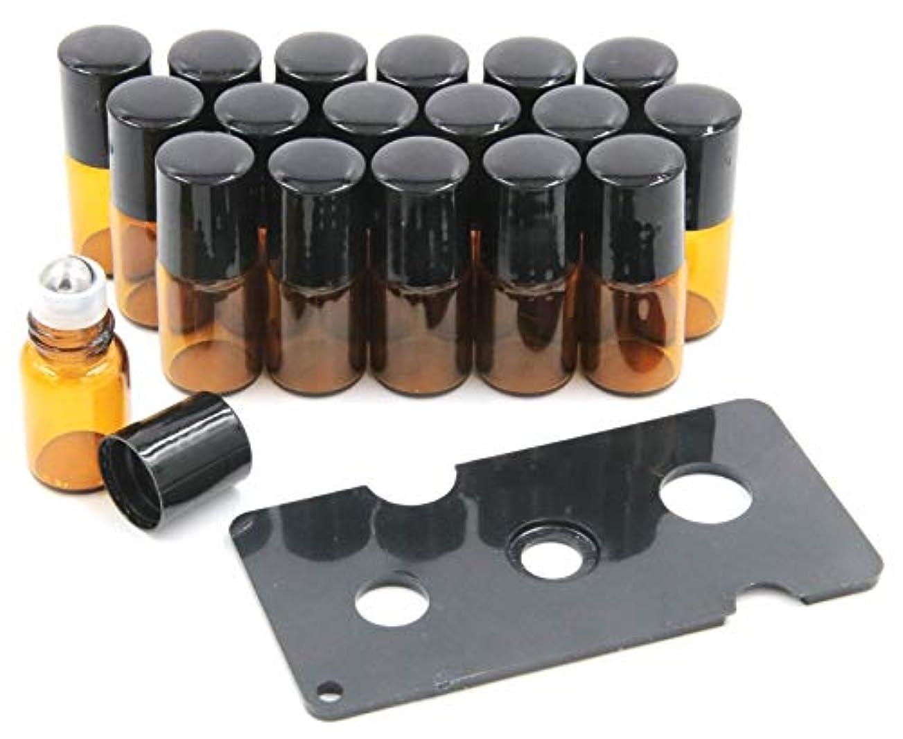 慢なアナログキャンプXPdesign アロマ ロールオン遮光瓶 アロマオイル 遮光瓶 保存 容器 小分け 詰め替え 香水 ボトル (2ml18本セット)