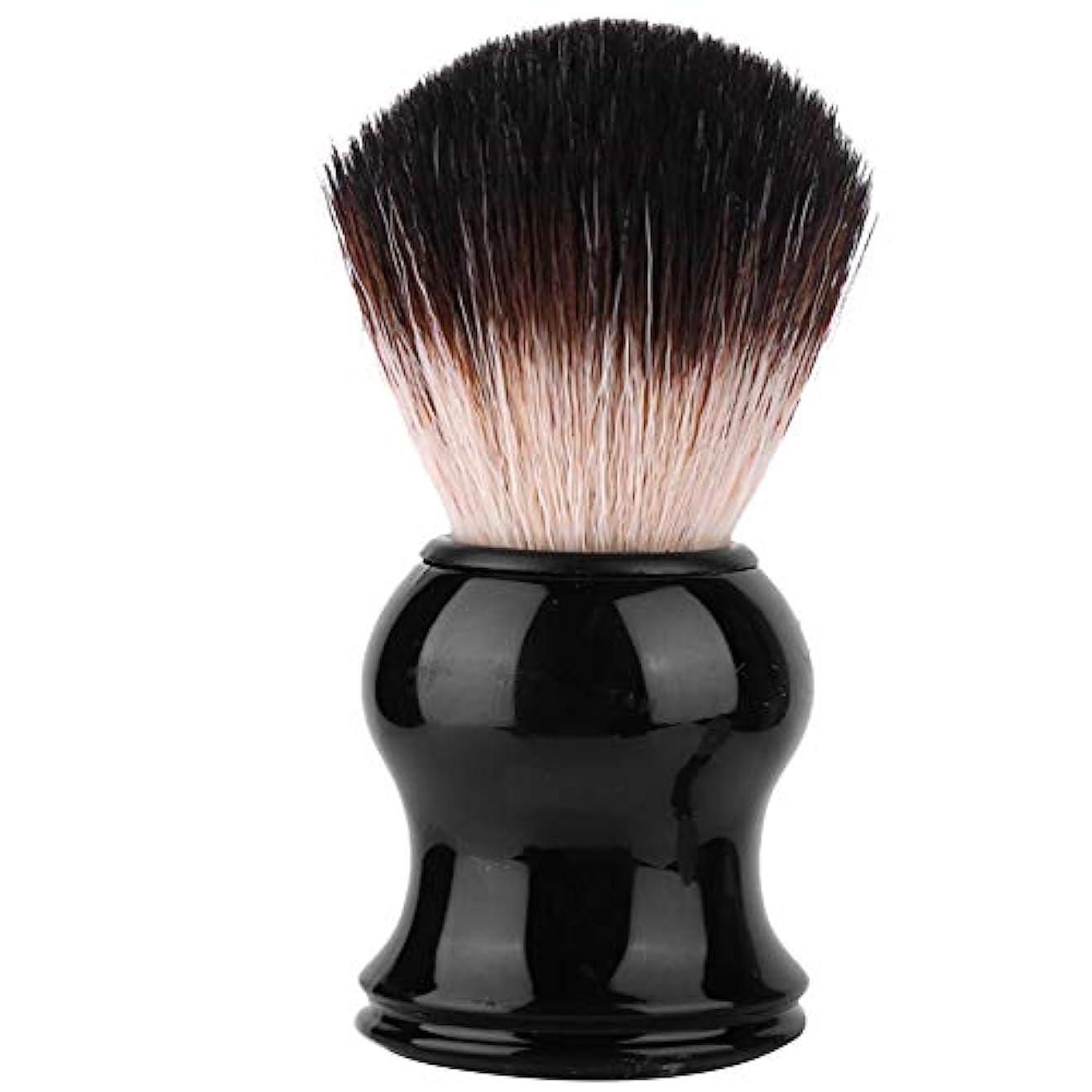 解放ニコチン証拠ポータブルメンズソフトヘアシェービングブラシ絶妙なハンドル髭ブラシ理髪ツール個人用および業務用シェービングに最適(3#)