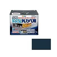 アサヒペン AP水性シリコンアクリル外かべ 8KGアトランティックブルー ds-1828614