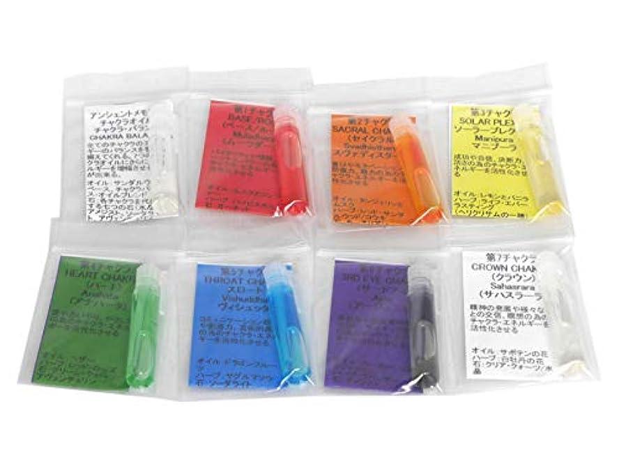 ハブブクライマックス設計【アンシェントメモリーオイル】アンシェントメモリー?チャクラオイル 小分け 8種類セット(約0.5ml×8 第一~第七チャクラオイル+チャクラバランス)