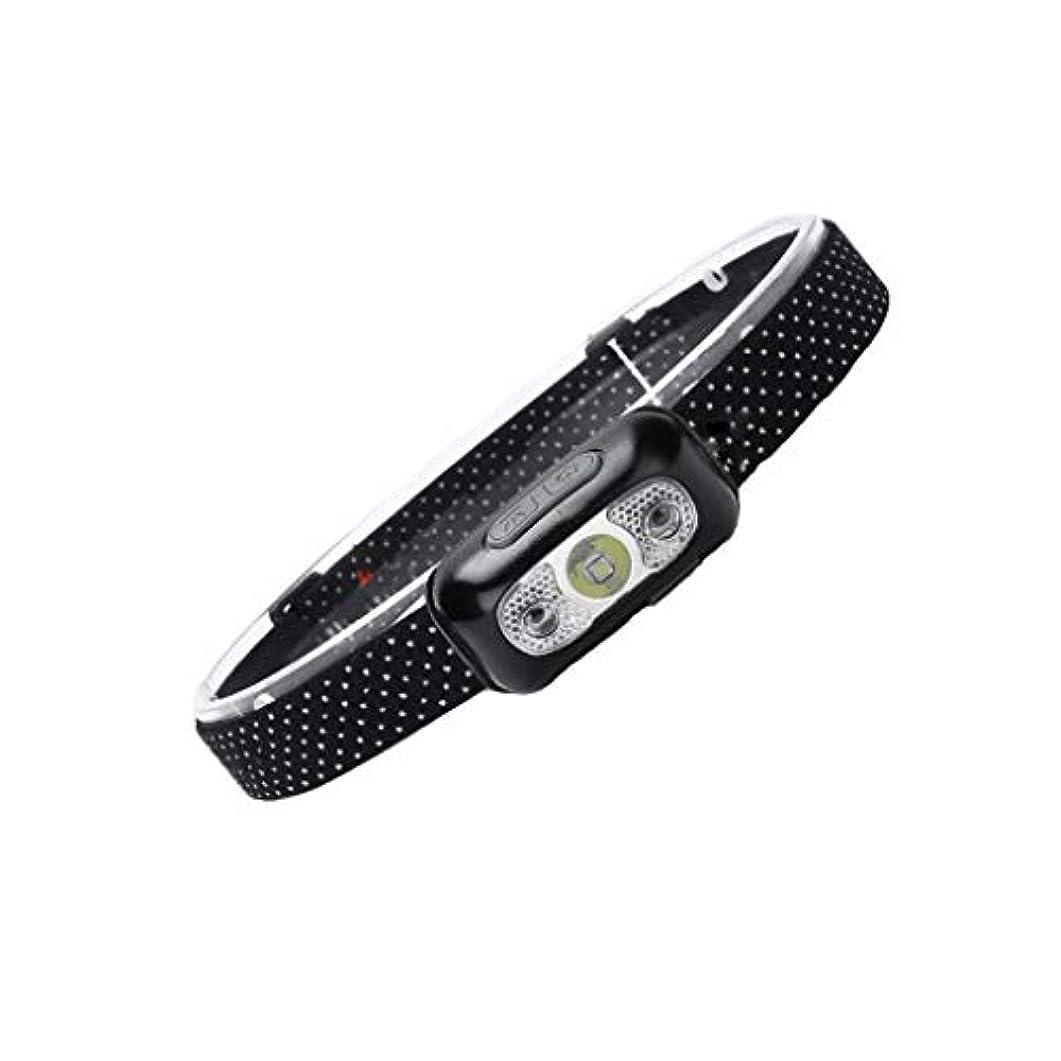 貞退屈な支店XIAOBUDIAN HL05センサーヘッドライト充電式防水ヘッドマウントワーク懐中電灯4モード屋外LEDナイトフィッシングライト
