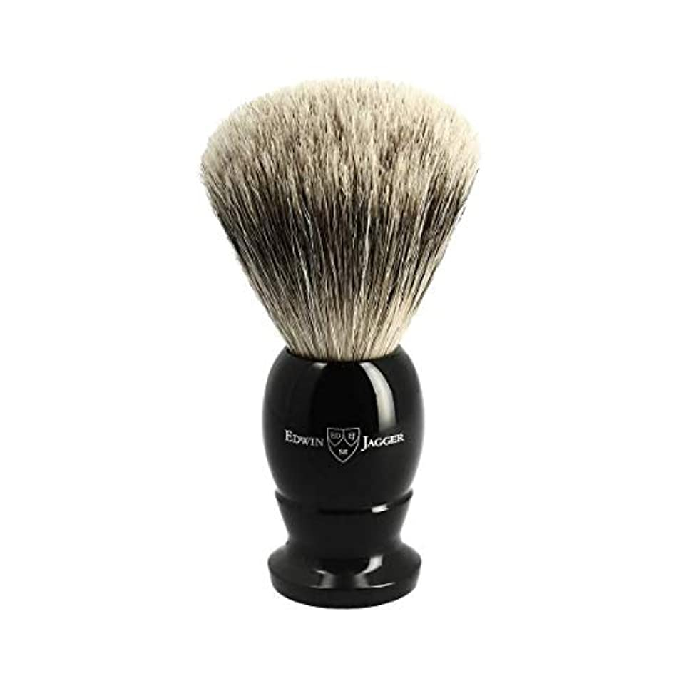 数学的なビヨン近くエドウィンジャガー ベストバッジャーアナグマ毛 エボニーシェービングブラシ大3EJ876[海外直送品]Edwin Jagger Best Badger Ebony Shaving Brush Large 3EJ876 [...