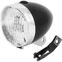 bluecookie_jp 砲弾型 自転車 ヘッドライト フロントライト LED 3灯 電池式 配線不要 明るい おしゃれ かっこいい レトロ 砲弾型 自転車ヘッド 簡単 取付 校園風 欧州風