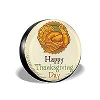 幸せな感謝祭 タイヤカバー おしゃれ タイヤラック 人気 スペア タイヤ カバー 人格 ホイールカバー 厚手 丈夫 防水 防塵 高品質 タイヤバッグ