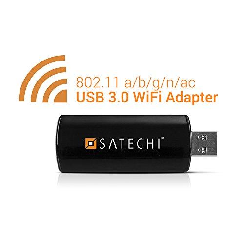 Satechi ワイヤレス USB3.0 mini Wi-Fiアダプター 無線LAN子機 デュアルバンド ネットワーク IEEE 802.11 a/b/g/n/ac 866.7 Mbps Windows XP/Vista/7/8/8.1/10対応