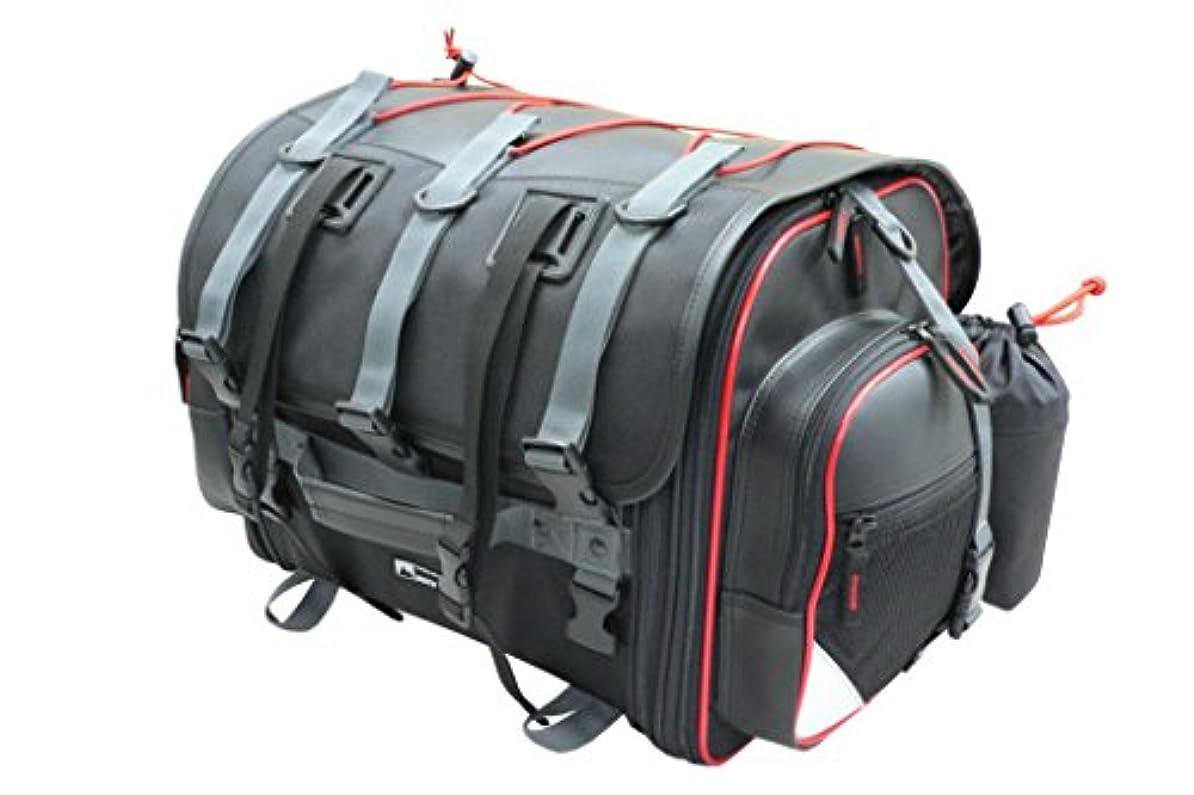 農夫書き出すほのめかすタナックス(TANAX) motofizz モトフィズ)フィールド シートバッグ [39⇔59リットル] ブラック 【赤パイピング仕様】 MFK-101R3