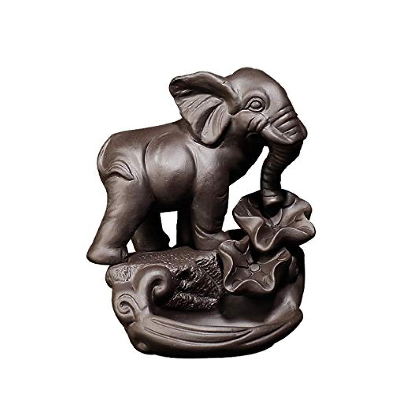 集団十年スチール逆流香ホルダー、象香バーナー仏セラミック香コーンバーナー香スティックホルダー家の装飾手芸ギフト