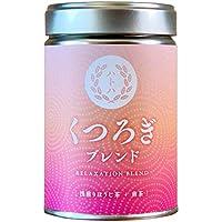くつろぎブレンド RELAXATION BLEND[浅煎りほうじ茶+煎茶]リーフ缶入り(40G)カフェインひかえめ。香ばしさと爽やかさの新体験。
