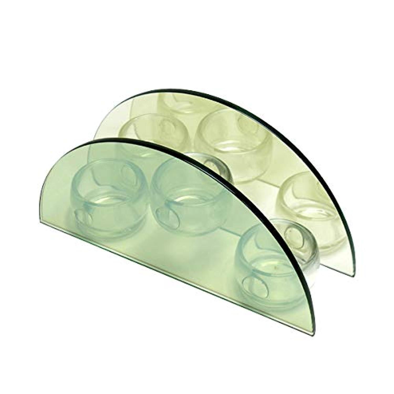 無限連鎖キャンドルホルダー セミサークル ガラス キャンドルスタンド ランタン 誕生日 ティーライトキャンドル