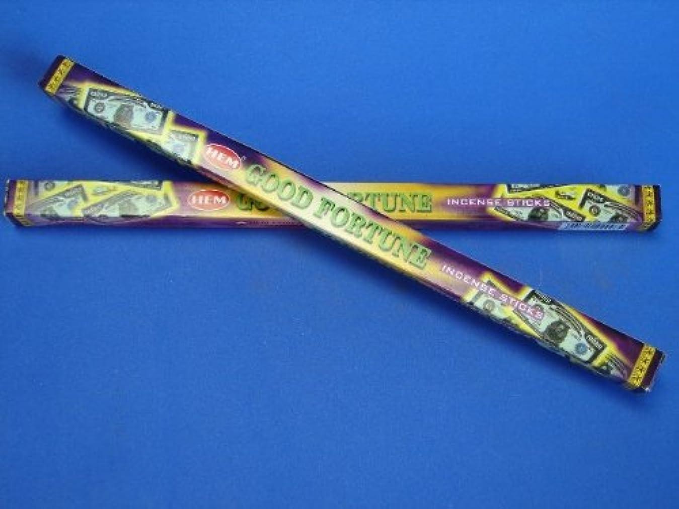 ブローホール植木折4 Boxes of HEM Good Fortune Incenses