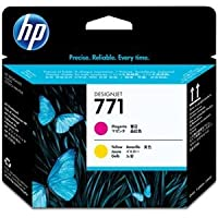 (まとめ) HP771 プリントヘッド マゼンタ/イエロー CE018A 1個 〔×3セット〕