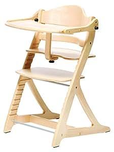大和屋 すくすくチェアプラス テーブル付 ナチュラルNA 1501 使いやすく進化し続けるロングセラーのベビーチェア