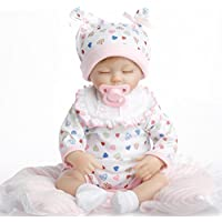 SanyDoll Reborn Baby Doll Soft Silicone 18inch 45cm Magnetic Lovely Lifelike Cute Lovely Baby birthday present