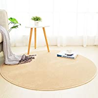 Lei- ラウンドカーペット、リビングルームの寝室ラウンドカーペットノンスリップマルチカラーとマルチサイズのオプションを簡単にクリーニングする 柔らかい