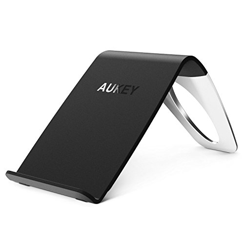AUKEY Qi準拠 ワイヤレス充電器 Galaxy S6 / S6 edge Nexus 4 / 5 / 6 / 7 (第2世代 2013)などQi対応機種 無接点充電 ワイヤレスチャージャー スマホ 充電パッド スタンド型 取り外し可能 LC-C1