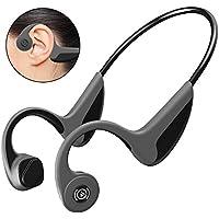 【Bluetooth5.0進化版】Bluetooth イヤホン 骨伝導 ヘッドホン スポーツ 超軽量 高音質 耳が疲れない ノイズキャンセル ハンズフリー通話 防汗 防滴 ワイヤレス イヤホン bluetooth ヘッドセット 骨伝導 iPhone&Android対応 (グレー)