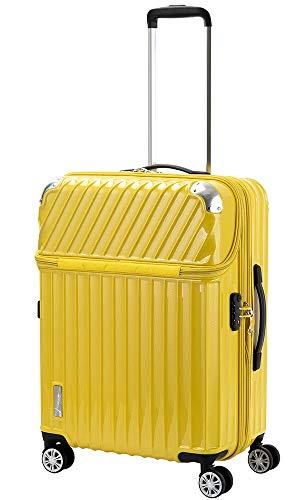 トラベリスト TRAVELIST トップオープン スーツケース 76-20307 モーメント 61L イエローカーボン イエロー ユニセックス [並行輸入品]
