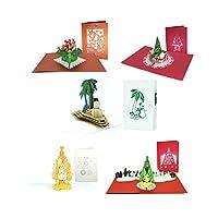 Paper Love 3D ポップアップ グリーティングカード 5 Pack