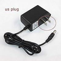 黒のAC 12V 1AのAC / DCコンバータCCTVのセキュリティカメラの監視システムのための電源チャージャーアダプターUSプラグ