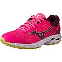 Mizuno Australia Women's Wave Rider 22 Running Shoes, Pink Glo/Port Royale/Charlock, 9.5 US
