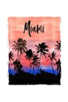 Miami: Florida Christmas Notebook With Lined Wide Ruled Paper For Taking Notes. Stylish Tropical Travel Journal Diary 6 x 9 Inch Soft Cover. For Home, Work Or School.