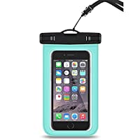 Kerwinner 防水バッグPVC透明防水携帯電話バッグ漂流バッグタッチスクリーン防水バッグビーチバッグユニバーサル (Color : Turquoise, Size : 10*20cm)