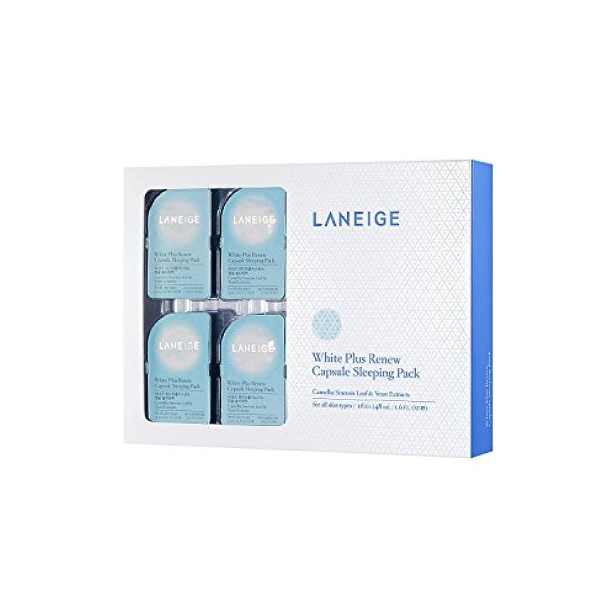 植物学者フットボールランチョンラネージュ(LANEIGE) ホワイト プラス リニュー カプセル スリーピングパック (美白) 3ml*16 [並行輸入品]