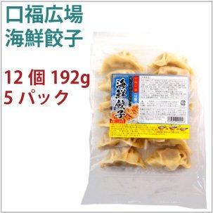 口福広場 海鮮餃子 12個 192g  5パック  【送料込】