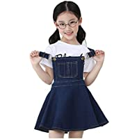 Kidscool Girls Big Bibs Adjustable Straps Denim Overall Tutu Dress