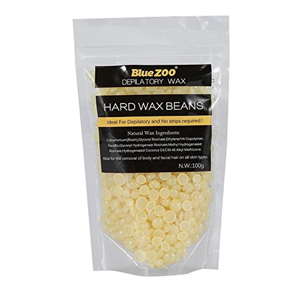 料理をする襟ラフトワックス脱毛ワックスヒーター+ 4 x 100g異なるワックス豆+ 10個ワックススティックプロフェッショナルワックス脱毛セット(はちみつ)