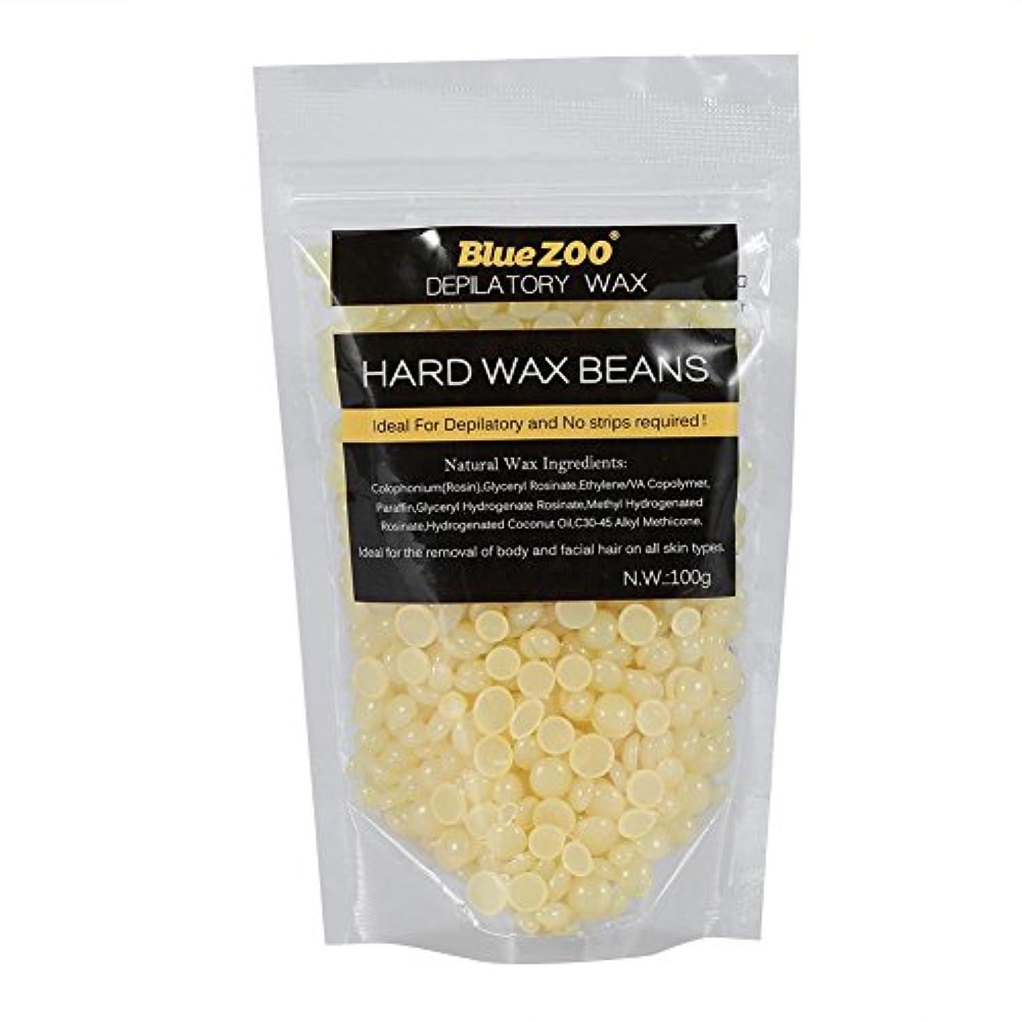 ワックス脱毛ワックスヒーター+ 4 x 100g異なるワックス豆+ 10個ワックススティックプロフェッショナルワックス脱毛セット(はちみつ)