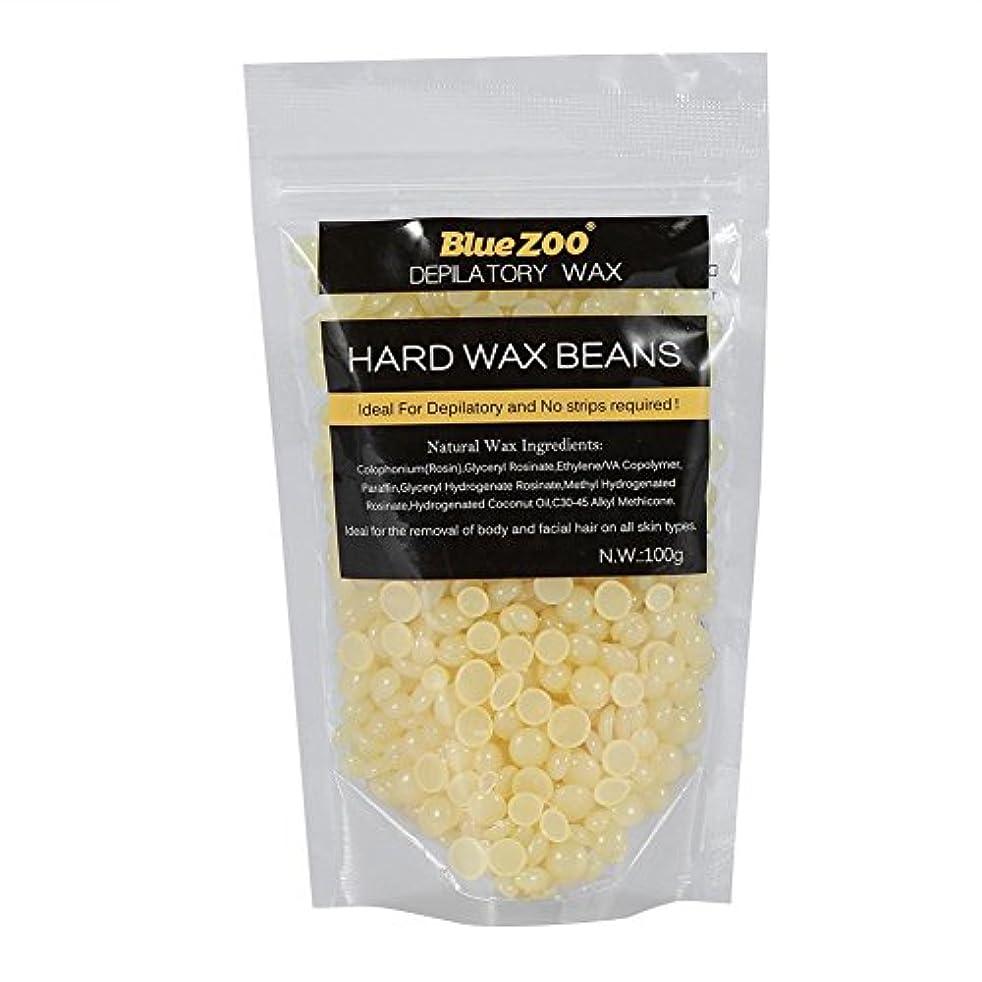 ファブリック屋内で独裁ワックス脱毛ワックスヒーター+ 4 x 100g異なるワックス豆+ 10個ワックススティックプロフェッショナルワックス脱毛セット(はちみつ)