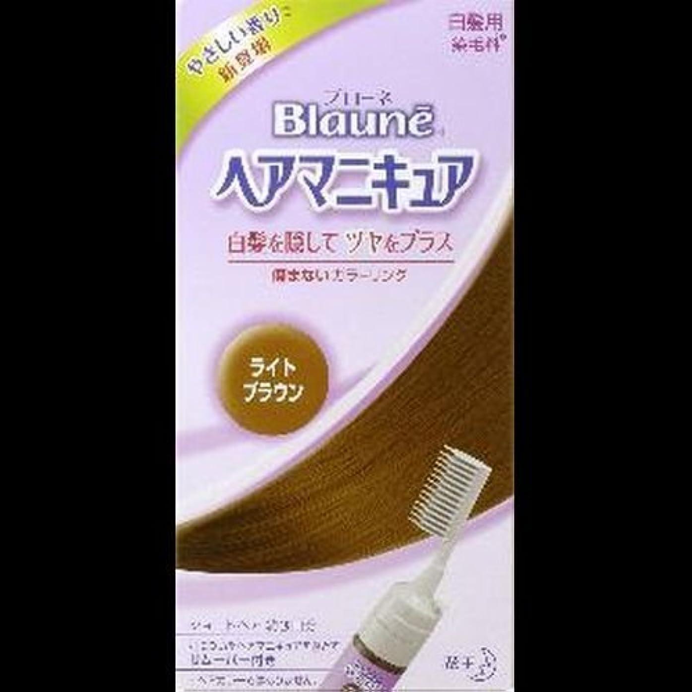 【まとめ買い】ブローネヘアマニキュア ライトブラウン クシ付 ×2セット