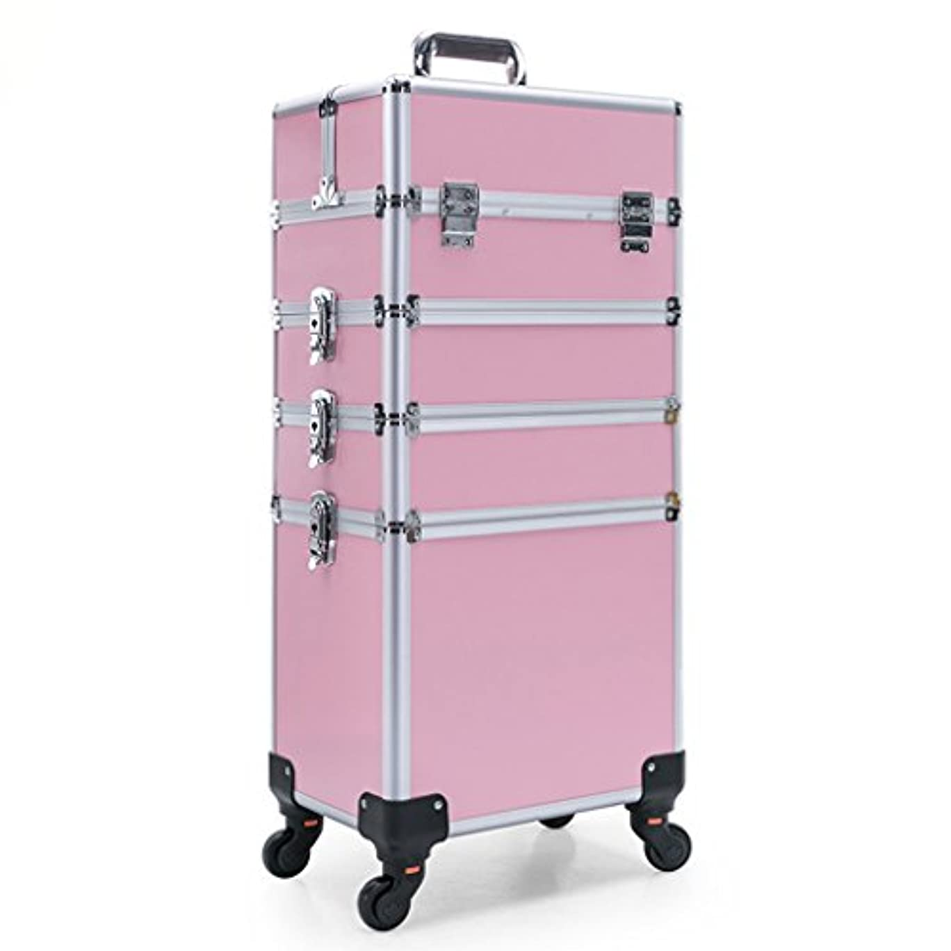 挑むカンガルーコレクション美容メイクアップケーストロリーアルミプロフェッショナル化粧箱ネイル、ジュエリー&ブラシ用ストレージケース