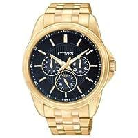 シチズン Citizen AG8342-52L Men's Quartz Gold Tone Multifunction Blue Dial Watch 男性 メンズ 腕時計 【並行輸入品】
