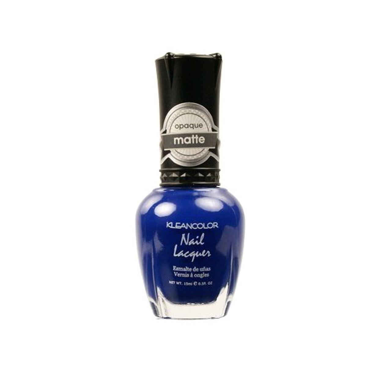 適応する頑固な社説KLEANCOLOR Matte Nail Lacquer - Lush Blue (並行輸入品)