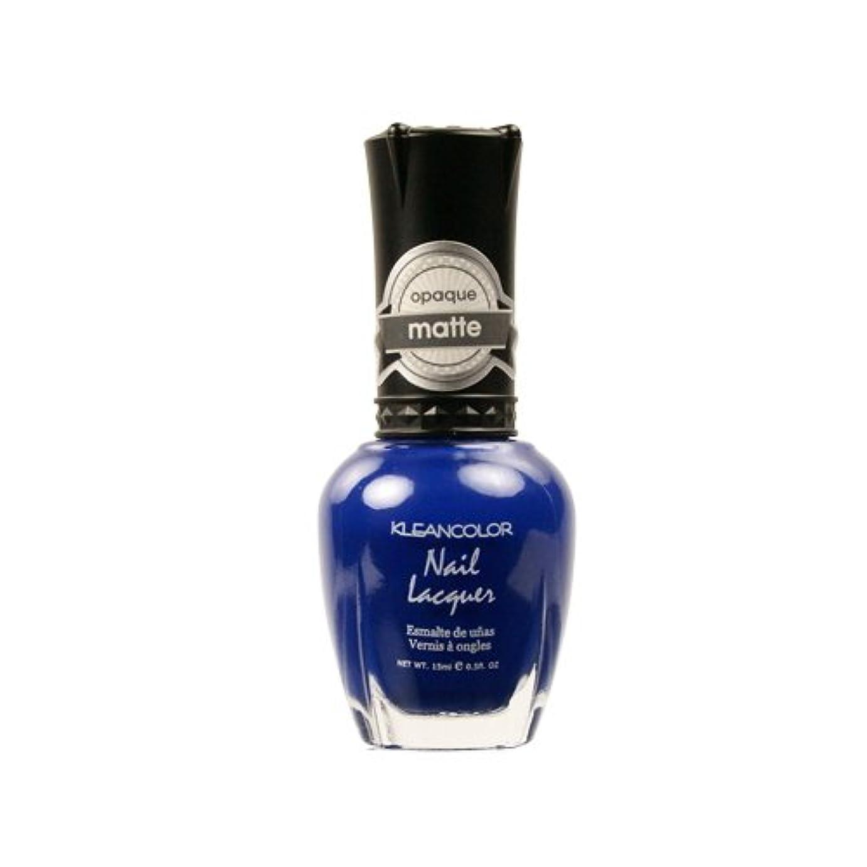 歪める選択するただKLEANCOLOR Matte Nail Lacquer - Lush Blue (並行輸入品)