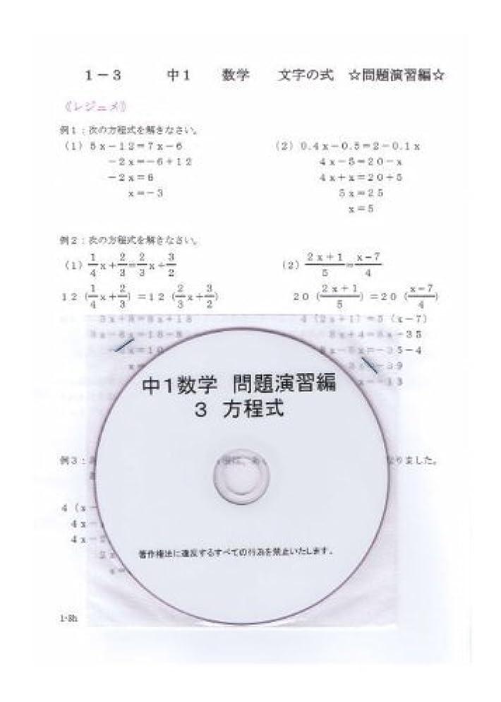 馬鹿げた病弱シングル中学 数学 1年 【応用】 3 方程式 DVD (授業+テキスト+問題集)