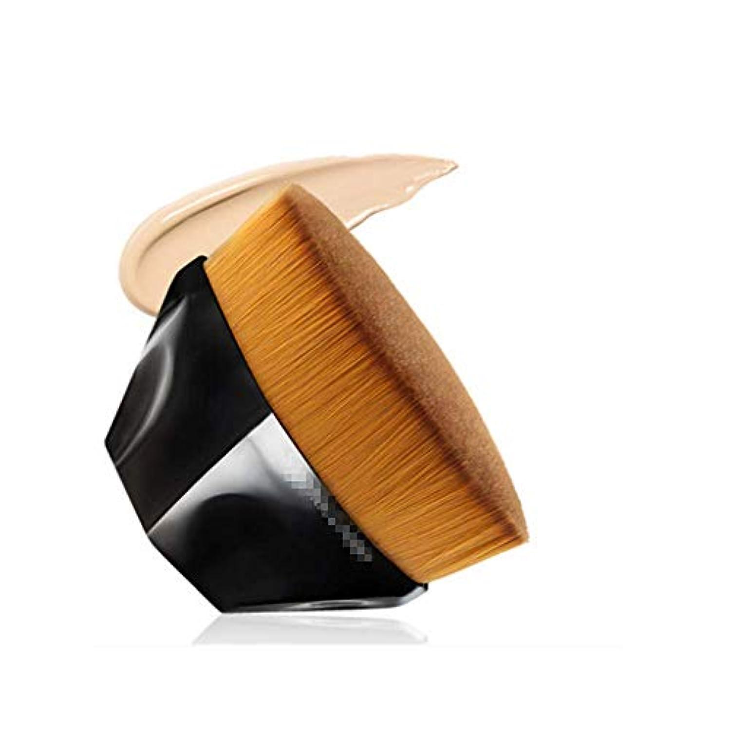取る分散樫の木ペタル ファンデーション ブラシ ベース ブラシ (ブラック)