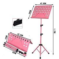 Chengjinxiang 折りたたみ太字肥厚を上げることができますし、譜面台、譜面台、譜面台、譜面台を下げた,持ち運びが簡単 (Color : Pink-1.7m)