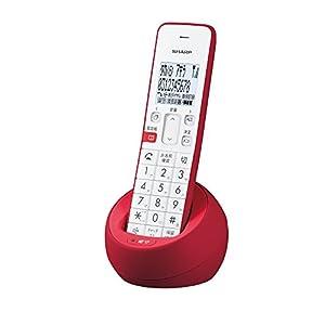 シャープ デジタルコードレス電話機 子機1台タイプ レッド系 JD-S08CL-R