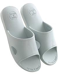 Mianshe 北欧 超軽量 サンダル スリッパ おしゃれ 抗菌衛生 歩きやすい 滑り止め 来客用 男女兼用 薄グレー XL