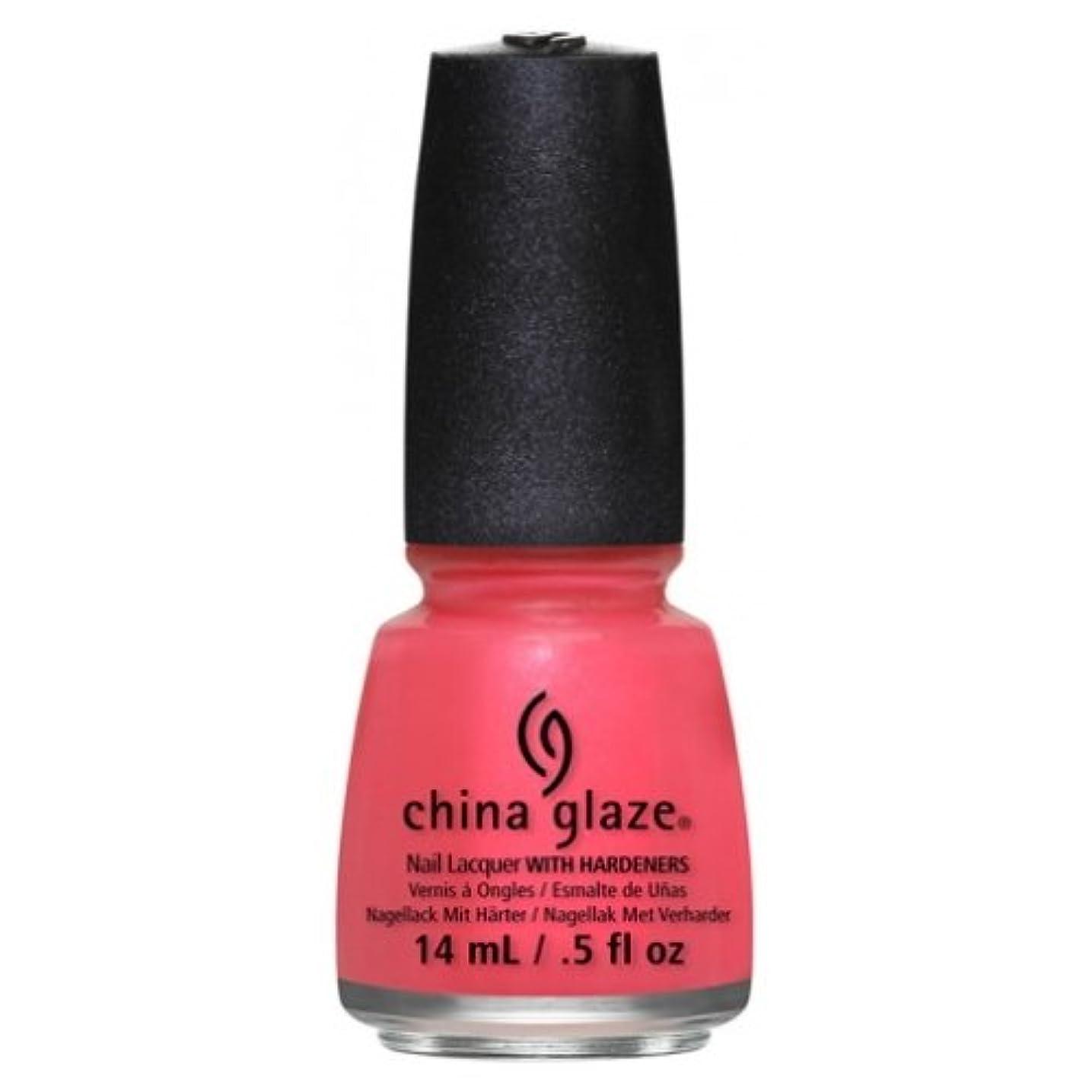 赤暗唱する慣れている(6 Pack) CHINA GLAZE Nail Lacquer - Art City Flourish - Strike A Rose (並行輸入品)