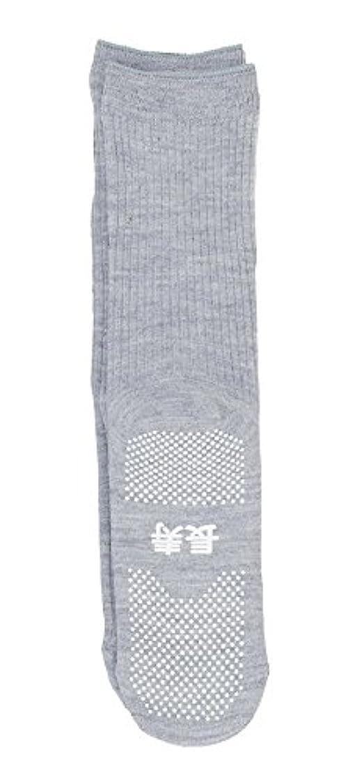 ずらすパワーセル脆い神戸生絲 すべり止め靴下( 長寿
