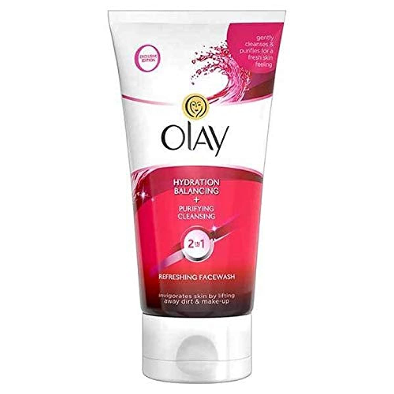 [Olay ] オーレイの2In1水和+浄化クレンジングFacewashの150ミリリットル - Olay 2in1 Hydration + Purifying Cleansing Facewash 150ml [並行輸入品]