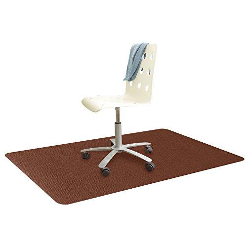 フローリング 床 保護 チェアマット ずれない めくれない 足元マット 吸音 傷 防止 滑り止め 丸洗い可能 カット可能 140x80cm ブラウン