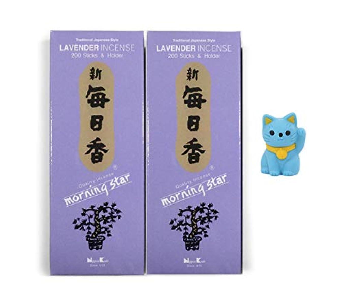 コアシャット喉頭日本香堂 モーニングスター香 ピュアフローラルエッセンスとアロマティックウッド パープル